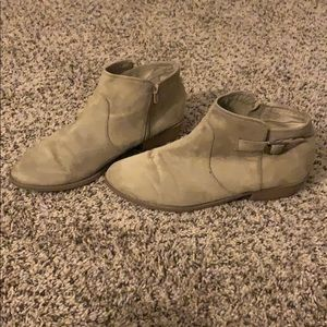 Cato Size 10 Tan Suade Booties